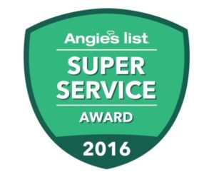 2016 Angie's List Super Service Award